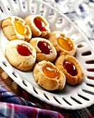 Brazilian nut biscuits with jam