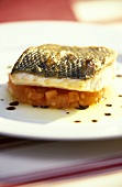 Sea bass on diced tomatoes