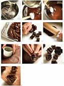 Making chocolate roses