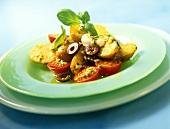 Insalata di patate (potato and tomato salad, Italy)