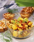 Insalata di funghi e peperone (mushroom salad with peppers)