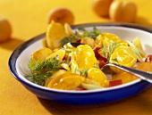 Potato curry with apricots