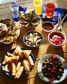 Various Tunisian appetisers