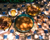 Harira: Moroccan lentil soup with figs and almonds