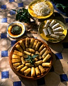 Moroccan spring rolls with mint
