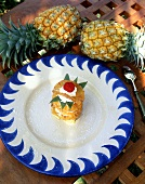Pineapple tartlet with cream from Mauritius
