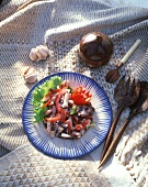 Cuttlefish salad with peppers from Mauritius