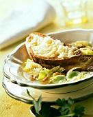 Zuppa valdostana (white cabbage soup), Valle d'Aosta, Italy