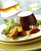 Budino al mascarpone (set mascarpone with brandy bread)