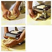 Making ribbon pasta