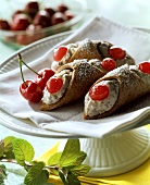 Cannoli alla siciliana (pastries with ricotta cream, Italy)