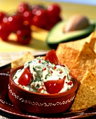 Avocado dip with tomatoes (Guacamole)