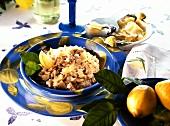 Risotto al limone e vitello (Lemon and veal risotto)