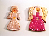 Iced Christmas biscuits: woman and angel