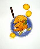 Wiener schnitzel (veal escalope) with lemon