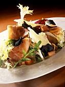 Parma ham salad with parmesan and Perigord truffles
