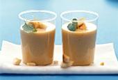 Buttermilk drink with orange, sea buckthorn & zwieback