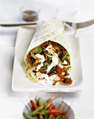 Vegetable wrap with sour cream