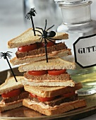 Mince sandwiches for Harry Potter or Halloween party
