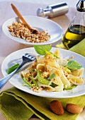 Pasta con le mandorle (penne with almond sauce and leeks)