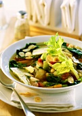 Minestrone ligure (Vegetable soup with almond pesto)