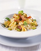 Tagliatelle alla contadino (Ribbon pasta with bacon & celery)