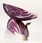Two quarters of red cabbage
