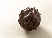 A dark chocolate