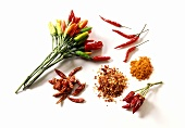 Chili peppers (fresh, dried, chili seeds, chili powder)