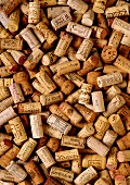 Lots of wine corks (filling the picture)