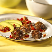 Meat balls with paprika sauce