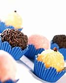 Brazilian sweets: Beijinho, Brigadeiro, Bicho-de-pe