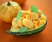 Gnocchi con la zucca alla salvia (Pumpkin gnocchi with sage)