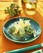 Malfatti (cheese and spinach dumplings), Lombardy, Italy