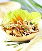 Thai seafood salad with peanuts