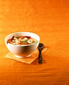 Thai Tom Yum soup with mushrooms and shrimps