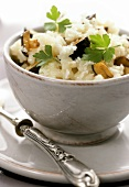 Risotto ai funghi (Risotto with mushrooms and fresh parsley)