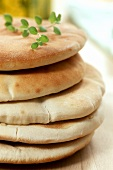 Freshly baked flatbreads