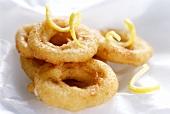 Squid in batter with lemon zest