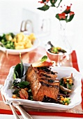 Roast beef with vegetables and Spätburgunder sauce