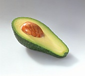 Half an avocado with stone