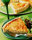 Quiche Lorraine with green salad