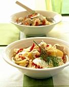 Fish soup with sauerkraut