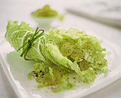 Chinese cabbage salad with green grapes