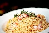 Spaghetti ai gamberetti (Spaghetti with chilli & shrimps)