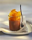 Mousse au chocolat with kumquats