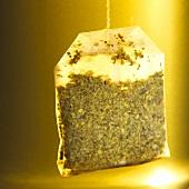 Herb and lemon tea in tea bag