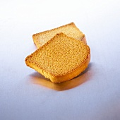 Two slices of zwieback (rusk)
