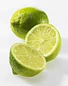 Whole lime and two lime halves