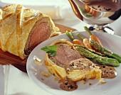 Filet Wellington with truffle sauce